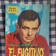 Cine: FIGURAS DE LA T.V BIOGRAFIA ILUSTRADA DAVID JANSSEN EL FUGITIVO. Lote 197198555