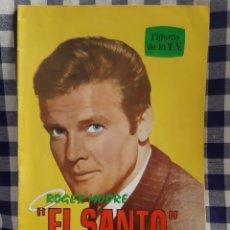 Cine: FIGURAS DE LA T.V BIOGRAFIA ILUSTRADA ROGER MOORE EL SANTO. Lote 197198908