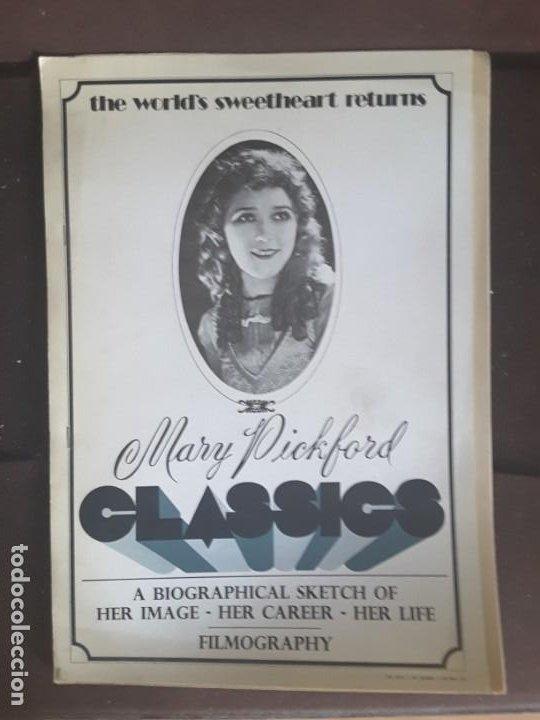 MARY PICKFORD CLASSICS BIOGRAPHICAL SKETCH HER IMAGE CAREER LIFE FILMOGRAPHY (Cine - Biografías)