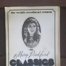 Cine: MARY PICKFORD CLASSICS BIOGRAPHICAL SKETCH HER IMAGE CAREER LIFE FILMOGRAPHY . Lote 198921027