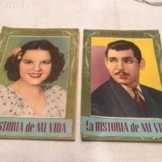 Cinema: CLARK GABLE Y JUDY GARLAND. LA HISTORIA DE MI VIDA. EDITORIAL BRUGUERA. 1940'S.. Lote 208905100
