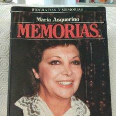 Cine: MARIA ASQUERINO. MEMORIAS. PLAZA Y JANES, BIOGRAFIAS Y MEMORIAS, 1987. RUSTICA CON SOLAPA. 311 PAGIN. Lote 213538256