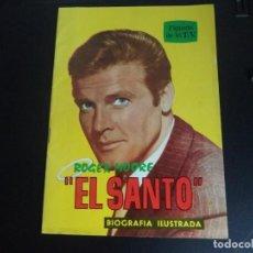 """Cine: REVISTA FIGURAS DE LA T.V. ROGER MOORE """" EL SANTO """". Lote 218717711"""