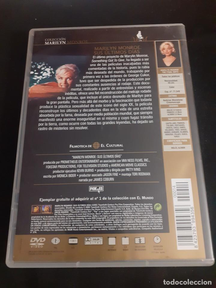 Cine: DVD documental Mariyin Monroe sus ultomos dias - Foto 3 - 219114718