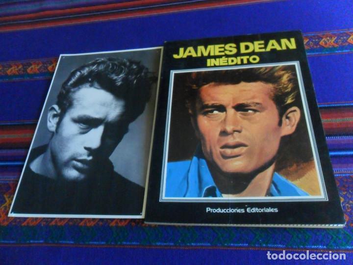 JAMES DEAN INÉDITO CON POSTAL. PRODUCCIONES EDITORIALES 1976. RÚSTICA 94 PÁGINAS. (Cine - Biografías)