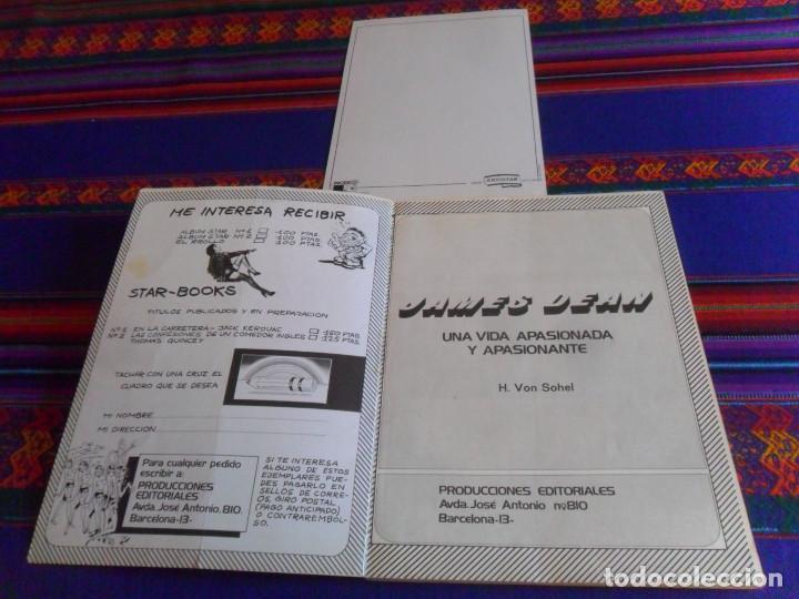 Cine: JAMES DEAN INÉDITO CON POSTAL. PRODUCCIONES EDITORIALES 1976. RÚSTICA 94 PÁGINAS. - Foto 3 - 220714040