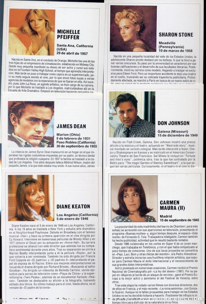 Cine: EDIFICHAS - LOTE DE 16 FICHAS - BIOGRAFIA,FILMOGRAFIA,FOTOGRAFIA,ACTORES,DIRECTORES -VER FOTOS ADIC. - Foto 2 - 221362338