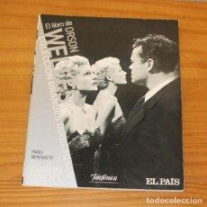Cine: COLECCION GRANDES DIRECTORES 1 EL LIBRO DE ORSON WELLES, PAOLO MEREGHETTI. EL PAIS. Lote 221859817
