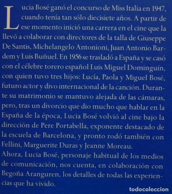 Cine: LUCÍA BOSÉ DIVA DIVINA - BIOGRAFÍA BEGOÑA ARANGUREN - MODELO ACTRIZ DE CINE ITALIANA LIBRO CON FOTOS - Foto 2 - 230269920