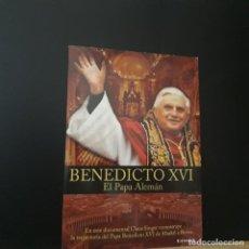 Cine: BENEDICTO XVI EL PAPA ALEMÁN. DVD DOCUMENTAL DE CLAUS SINGER 2006 CUBIERTA CARTÓN. Lote 230343935