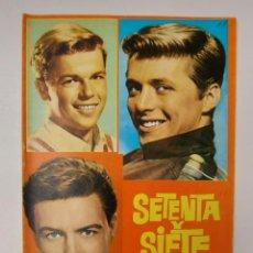 Cine: ANTIGUA REVISTA DE LA SERIE - SETENTA Y SIETE - 77 SUNSET STRIP - BIOGRAFIA ILUSTRADA - 1964 - PUBLI. Lote 233576280