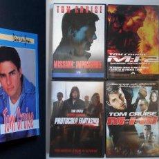 Cine: TOM CRUISE: 2 LIBROS BIO + 4 DVD MISIÓN IMPOSIBLE + NOVELA LA TAPADERA PRECINTADA. SUPERPACK. Lote 241134095