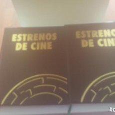 Cine: DOS TOMOS DE ESTRENOS DE CINE. Lote 241251140