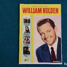 Cine: REVISTA DE CINE LA VIDA DE WILLIAM HOLDEN CON FOTOS DE PELICULAS (1958) - RW. Lote 245294525