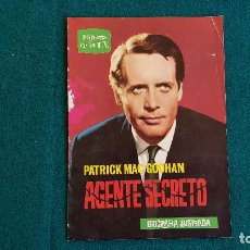 Cine: REVISTA DE CINE FIGURAS DE LA T.V. LA VIDA DE PATRICK MAC GOOHAN (1964) BIOGRAFIA ILUSTRADA - RW. Lote 245294965