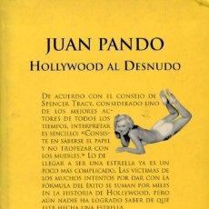 Cine: HOLLYWOOD AL DESNUDO. JUAN PANDO.. Lote 262703295