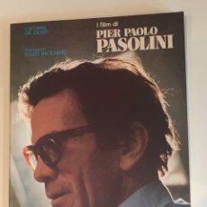 Cine: I FILM DI PIER PAOLO PASOLINI LUCIANO DE GIUSTI LIBRO. Lote 275514583
