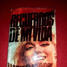 Cine: RECUERDOS DE MI VIDA MARILYN MONROE EDITORIAL EUROS 1975 ( CON FOTOGRAFIAS ). Lote 288505143