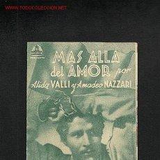 Cine: MAS ALLA DEL AMOR (DOBLE). Lote 746005
