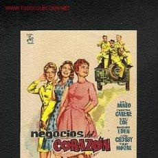Cine: NEGOCIOS DEL CORAZON. Lote 805234