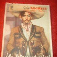 Cine: FOLLETO DE LA PELICULA -¡AY JALISCO NO TE RAJES!- CON JORGE NEGRETE, GLORIA MARIN Y CHAFLAN.. Lote 842845