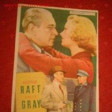 Cine: FOLLETO DE LA PELICULA -PERSEGUIDO- CON GEORGE RAFT Y LALLY GRAY. AÑO 1955.. Lote 861068