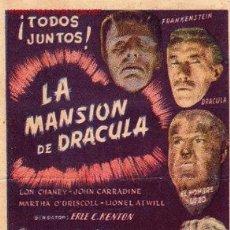 Cine: LON CHANEY - LA MANSION DE DRACULA - CIFESA - FRANKENSTEIN - HOMBRE LOBO - ELSA LANCHESTER. Lote 25535621