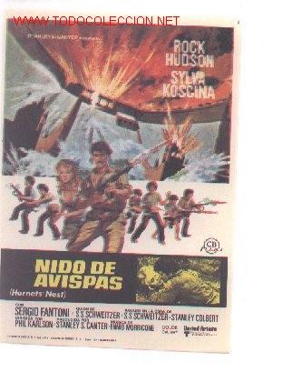 19-25. PROGRAMA NIDO DE AVISPAS (Cine - Folletos de Mano - Bélicas)