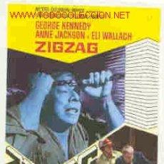 Cine: PROGRAMA DE CINE:ZIGZAG (FALSO TESTIMONIO). Lote 97523