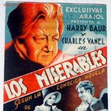 Cine: ANTIGUO PROGRAMA DE MANO ORIGINAL LOS MISERABLES AÑOS 40. Lote 27488695