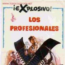 Folhetos de mão de filmes antigos de cinema: LOS PROFESIONALES GRANDE, ORIGINAL, SIN CINE , PMD. Lote 47277169