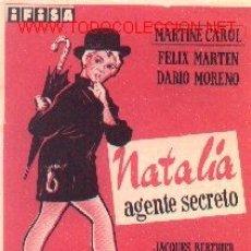 Cine: 19-293. NATALIA AGENTE SECRETO. Lote 146693