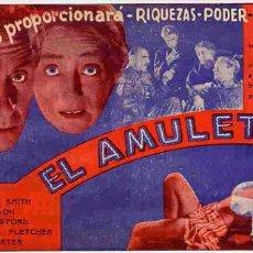 Cine: EL AMULETO , PROGRAMA DOBLE , AÑOS 30 , PMD. Lote 131770317