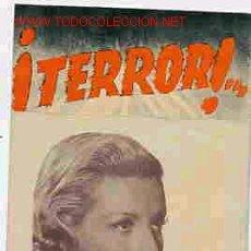 Cine: ¡ TERROR ¡ DOBLE PM9028. Lote 5843648