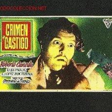 Cine: CRIMEN Y CASTIGO. Lote 559162