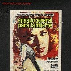 Cine: ENSAYO GENERAL PARA LA MUERTE. Lote 559596
