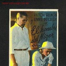 Cine: EL HOMBRE DEL NIGER. Lote 625866