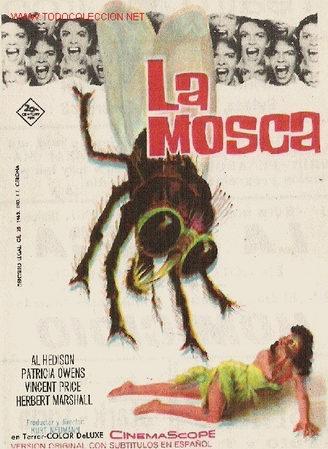 20TH C. FOX - LA MOSCA - DORSO ESCRITO CINE TEATRO CIRCO - TERROR - SF - VINCENT PRICE - AL HEDISON (Cine - Folletos de Mano - Terror)