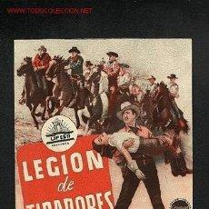 Cine: LEGION DE TIRADORES (DOBLE) (WESTERN). Lote 687226
