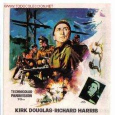 Folhetos de mão de filmes antigos de cinema: ELLOS HEROES DE TELEMARK , SENCILLO , SIN CINE , PMD 114. Lote 780402