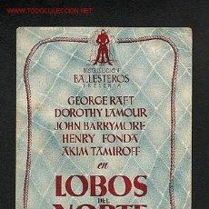Cine: LOBOS DEL NORTE (DOBLE). Lote 710907