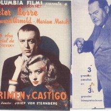Cine: PROGRAMA CRIMENY CASTIGO.DOBLE SIN PUBLICIDAD. Lote 6225086