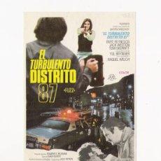 Cine: EL TURBULENTO DISTRITO 87, PROGRAMA ORIGINAL. Lote 3504886