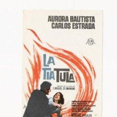 Cine: LA TIA TULA, PROGRAMA ORIGINAL. Lote 3504904