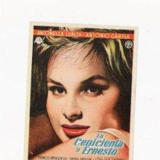 Cine: LA CENICIENTA Y ERNESTO, PROGRAMA ORIGINAL. Lote 3504923