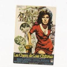 Cine: LA CASA DE LAS CHIVAS, PROGRAMA ORIGINAL. Lote 3504947