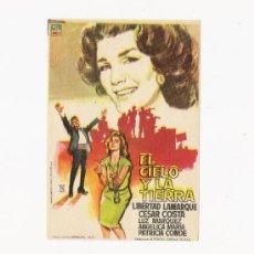 Cine: EL CIELO Y LA TIERRA, PROGRAMA ORIGINAL. Lote 3504955