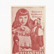 Cine: LA ATLNTIDA, PROGRAMA ORIGINAL ERROR DE IMPRENTA. Lote 3560085