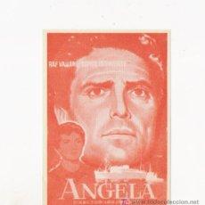 Cine: ANGELA, PROGRAMA ORIGINAL, ERROR DE IMPRENTA. Lote 3560119