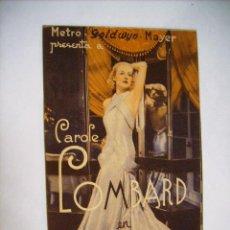 Cine: LA NOVIA ALEGRE - CAROLE LOMBARD - PROGRAMA DOBLE - AÑO 1934. Lote 27096042